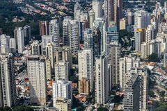 Metropole view from above. Aerial view of Sao Paulo city, Brazil. Metropole view from above. Aerial view of Sao Paulo city, Brazil South America stock photo