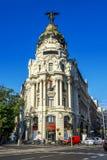 Metropolengebäude, Madrid lizenzfreie stockbilder