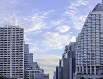 Metropoli di Bangkok all'alba in Tailandia Fotografie Stock Libere da Diritti