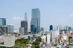 Metropoli di Ho Chi Minh City e città di Saigon, Vietnam Fotografia Stock Libera da Diritti