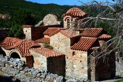 Metropoli ortodossa di Dimitrios del san al sito archeologico di Mystras Fotografia Stock Libera da Diritti