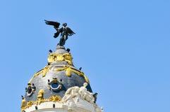Metropolia Budynek, Madryt, Hiszpania zdjęcie royalty free