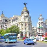 Metropolia budynek w Madryt Fotografia Stock