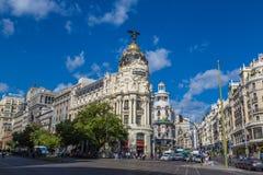 Metropolia hotel w Madryt, Hiszpania fotografia royalty free