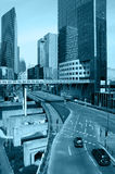 Metropolis. Modern arhitecture of La Defense District in Paris Royalty Free Stock Images