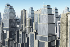Metropolis 3D render Stock Photography