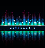 Metropolis. Abstract cityscape Stock Images