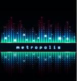 metropolis Abstracte Cityscape Stock Afbeeldingen