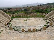 Metropolis ancient ruins theatre Royalty Free Stock Photo