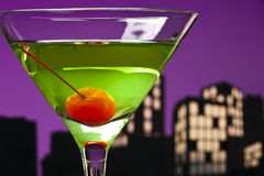Metropolis Apple Martini Stock Photo