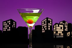 Metropolis Apple Martini Royalty Free Stock Photos
