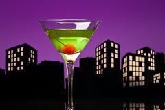 Metropolis Apple Martini Royalty Free Stock Photos