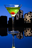 Metropolis Apple Martini Stock Image