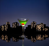 Metropolis Apple Martini Royalty Free Stock Image