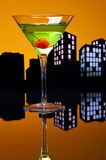 Metropolis Apple Martini Royalty Free Stock Photography