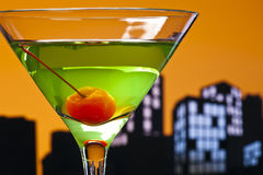 Metropolis Apple Martini Stock Image
