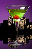 Metropolis Apple Martini Royalty Free Stock Images
