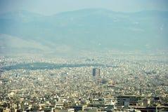 Urban neighborhoods and buildings metropolis Athens Greece. Metropolis Athens Greece urban neighborhoods and buildings Royalty Free Stock Image