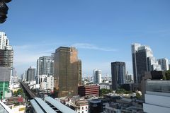 Metropolis of Bangkok. It is a place that gives shady to people in the capital Stock Images
