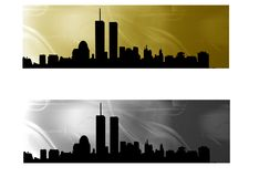 Metropolis banner Royalty Free Stock Photography