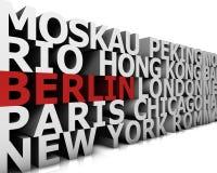 Metropolis Berlin. Typographical demonstration of big cities - Berlin  3d Stock Photos