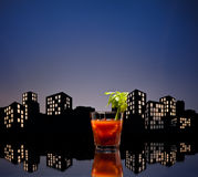 Metropolis Bloody Mary cocktail Stock Photography