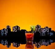 Metropolis Bloody Mary cocktail Royalty Free Stock Photos