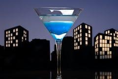 Metropolis Blue Martini Royalty Free Stock Photography