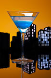 Metropolis Blue Martini Stock Photography