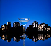 Metropolis Blue Martini Royalty Free Stock Photo