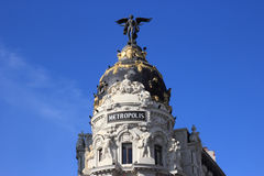 Metropolis building facade, Madrid, Spain Stock Photography
