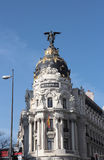 Metropolis building facade, Madrid, Spain Stock Photos