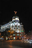 Metropolis Building, Gran Via and Alcala street, Madrid, Spain Stock Photography