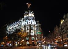 Metropolis Building, Gran Via and Alcala street, Madrid, Spain Stock Photo