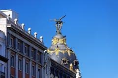 Metropolis Building, Madrid. Metropolis Building, Gran Via, Madrid, Spain Stock Photo