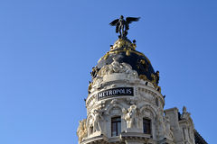 Metropolis Building in Madrid, Spain Royalty Free Stock Photography