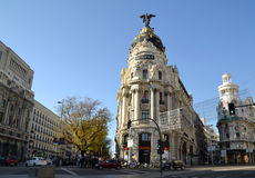 Metropolis Building in Madrid, Spain Stock Image