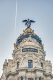 Metropolis building at Madrid, Spain Royalty Free Stock Images