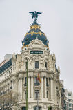 Metropolis building at Madrid, Spain Royalty Free Stock Photo