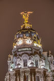 Metropolis building at Madrid, Spain Stock Photos