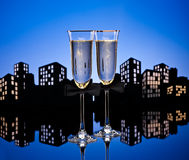 Metropolis Champagne cocktail Stock Photo