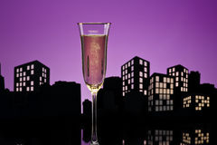 Metropolis Champagne cocktail Royalty Free Stock Images