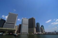 Metropolis City Skyline. A skyline of an urban city stock photography