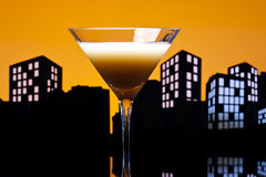 Metropolis coffee Martini cocktail Royalty Free Stock Photography