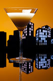 Metropolis coffee Martini cocktail Royalty Free Stock Photos