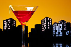 Metropolis Cosmopolitan Cocktail Royalty Free Stock Images