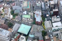 The metropolis. Fragment of dense housing metropolis of skyscraper windows. Japan Stock Photos