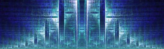 Metropolis. A futuristic art deco design depicting a sprawling metropolis Stock Photo