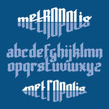 Metropolis gothic font Stock Photography