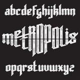 Metropolis gothic font Royalty Free Stock Photos